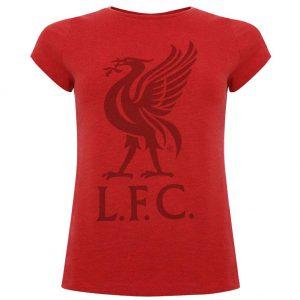 Liverpool FC Liverbird T Shirt Ladies Red 12