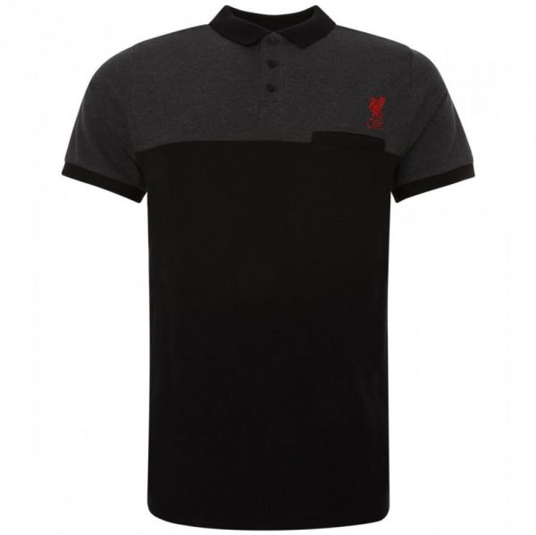 Liverpool FC Block Polo Shirt Mens Black S