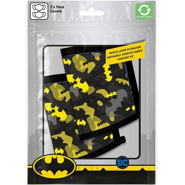 Batman 2pk Face Coverings Camo
