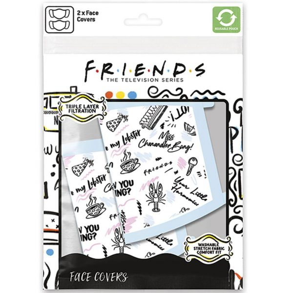 Friends 2pk Face Coverings Phrases