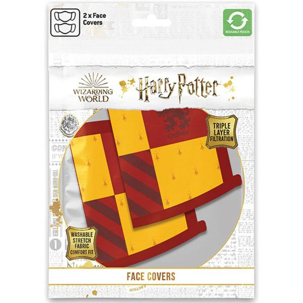 Harry Potter 2pk Face Coverings Gryffindor