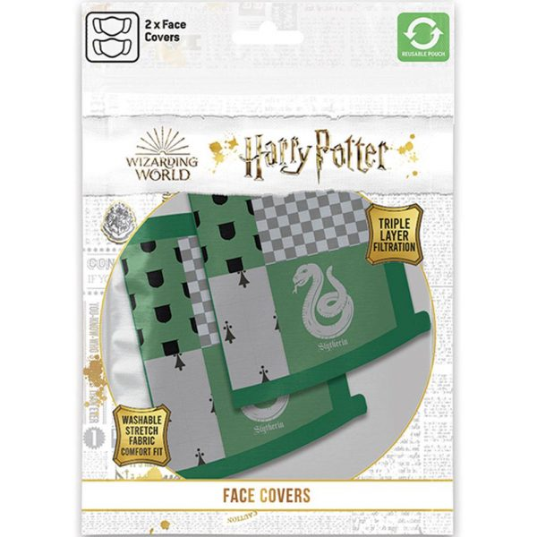 Harry Potter 2pk Face Coverings Slytherin