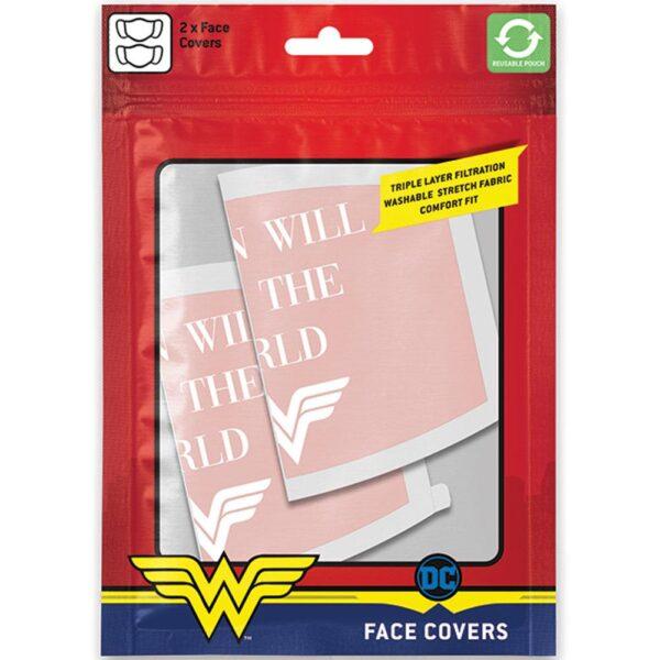 Wonder Woman 2pk Face Coverings