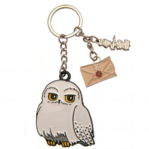 Harry Potter 3 Charm Keyring Hedwig Owl