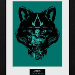 Assassins Creed Valhalla Picture Wolf 16 x 12