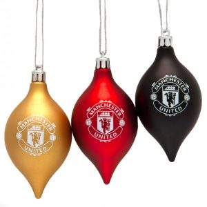 Manchester United FC 3pk Vintage Baubles