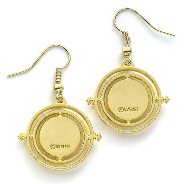 Harry Potter Gold Plated Earrings Time Turner