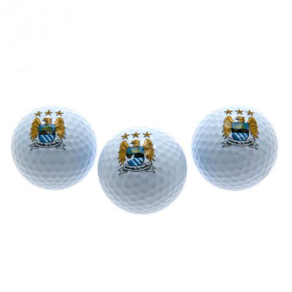 Manchester City FC Golf Balls EC