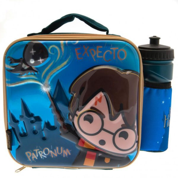 Harry Potter 3D Kawaii Lunch Bag & Bottle