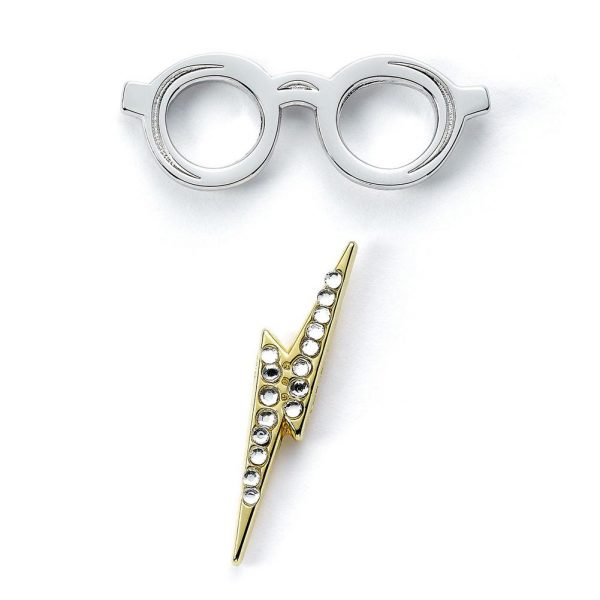 Harry Potter Badge Lightning Bolt & Glasses