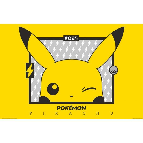 Pokemon Poster Pikachu Wink 143