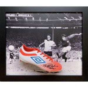 England FA Hurst Signed Boot (Framed)