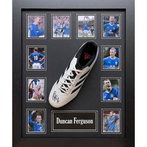 Everton FC Ferguson Signed Boot (Framed)