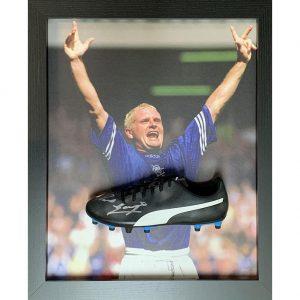 Rangers FC Gascoigne Signed Boot (Framed)