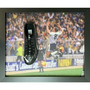 Tottenham Hotspur FC Gascoigne Signed Boot (Framed)