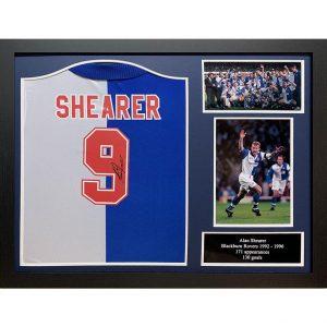 Blackburn Rovers FC Shearer Signed Shirt (Framed)