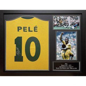 Brasil Pele Signed Shirt (Framed)