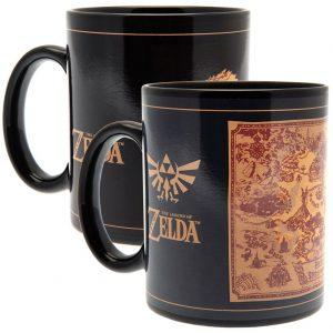 The Legend Of Zelda Heat Changing Mug Map
