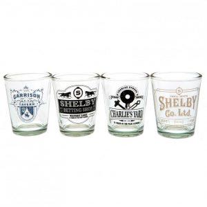 Peaky Blinders 4pk Shot Glass Set