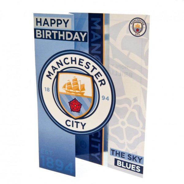 Manchester City FC Birthday Card