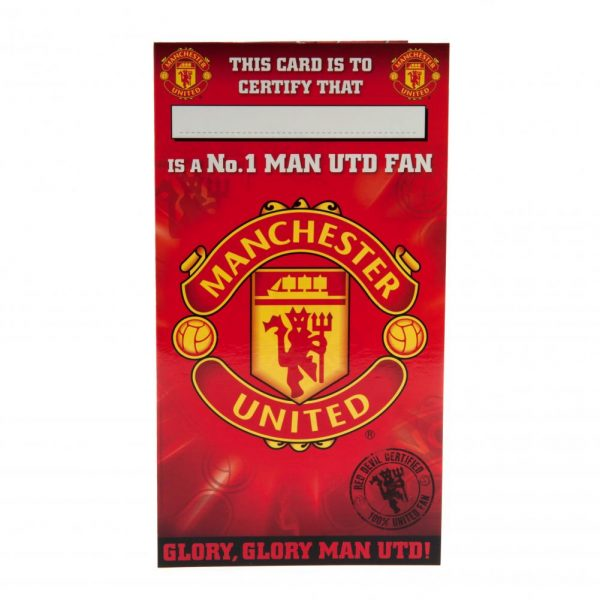 Manchester United FC Birthday Card No 1 Fan