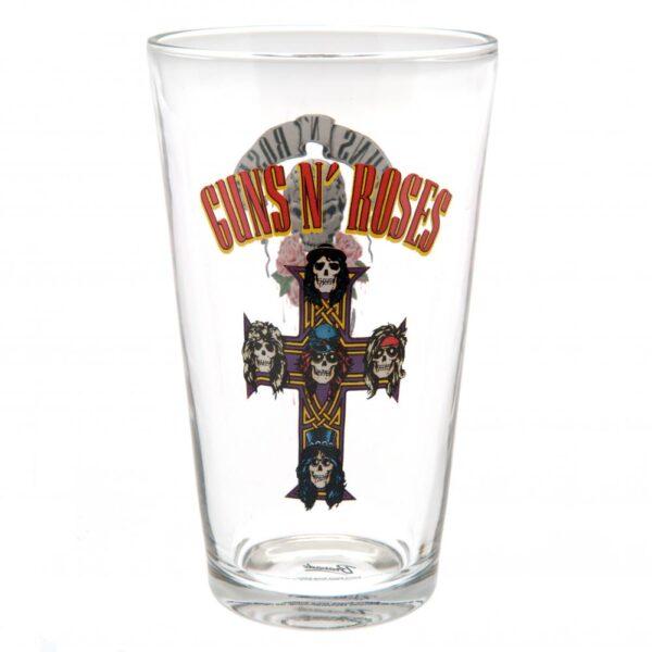 Guns N Roses Large Glass