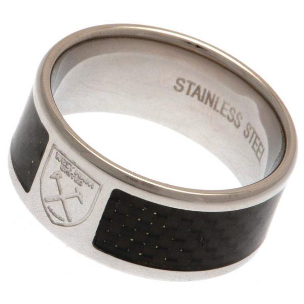West Ham United FC Carbon Fibre Ring Medium
