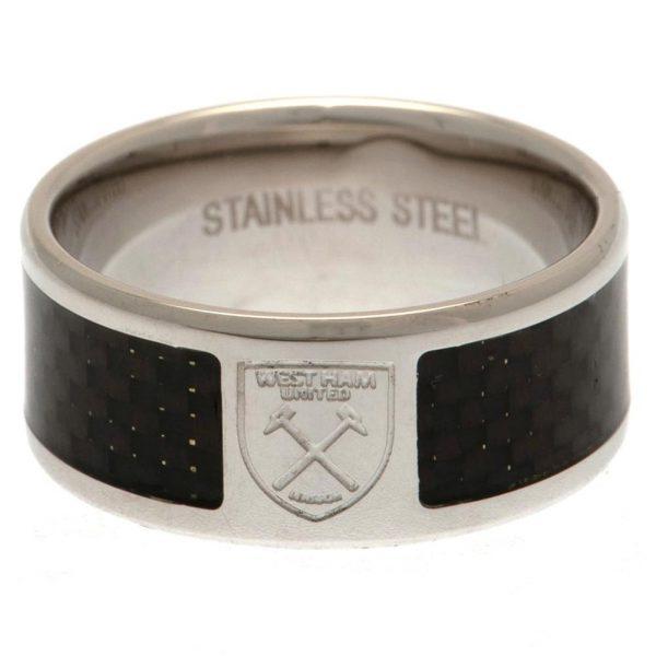 West Ham United FC Carbon Fibre Ring Large