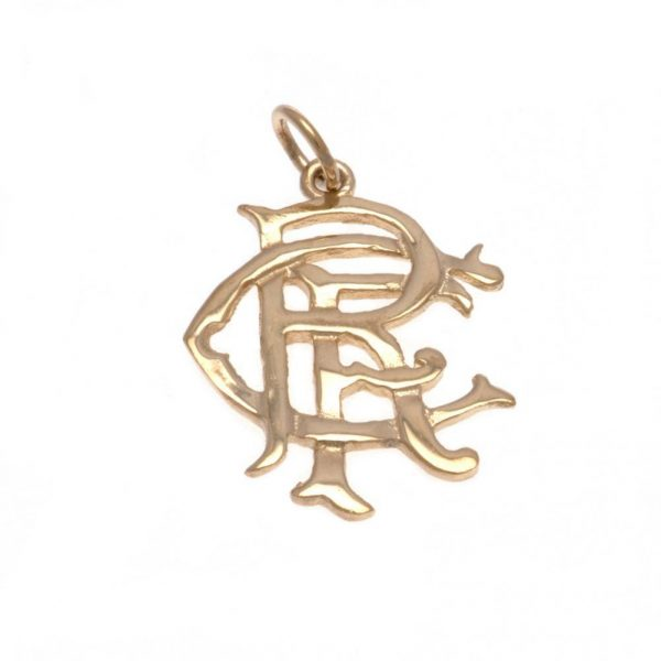 Rangers FC 9ct Gold Pendant Small