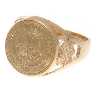 Celtic FC 9ct Gold Crest Ring Medium