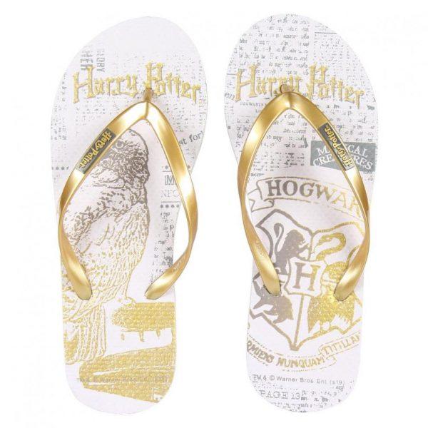 Harry Potter Ladies Flip Flops Golden Snitch Size 37