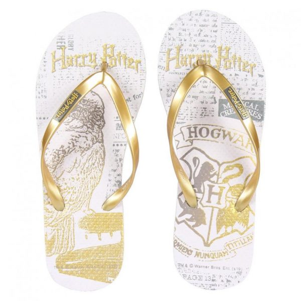 Harry Potter Ladies Flip Flops Golden Snitch Size 39