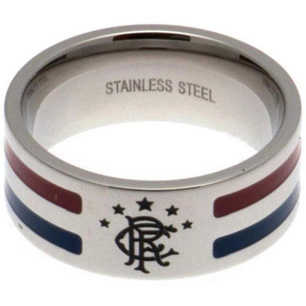 Rangers FC Colour Stripe Ring Medium