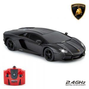 Lamborghini Aventador Radio Controlled Car 1:24 Scale Black