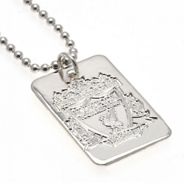 Liverpool FC Silver Plated Dog Tag & Chain