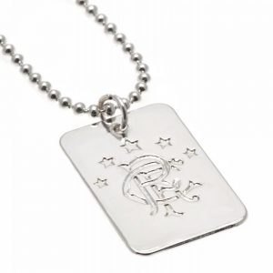 Rangers FC Silver Plated Dog Tag & Chain