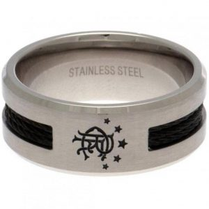 Rangers FC Black Inlay Ring Medium
