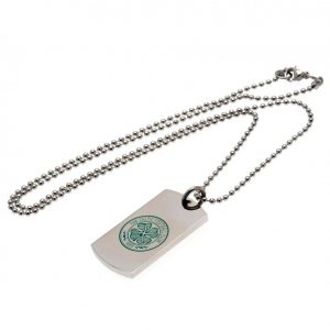 Celtic FC Colour Crest Dog Tag & Chain