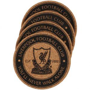 Liverpool FC 4pk Cork Coaster Set