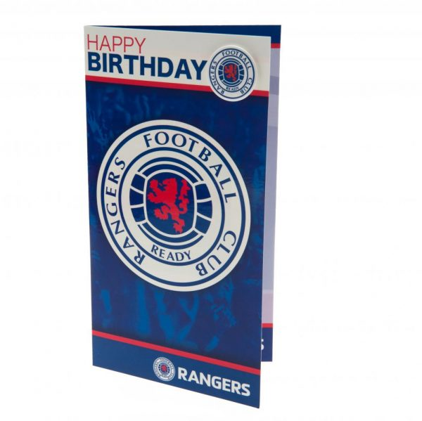 Rangers FC Birthday Card & Badge
