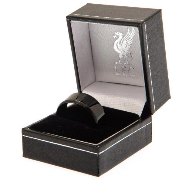 Liverpool FC Black IP Ring Small