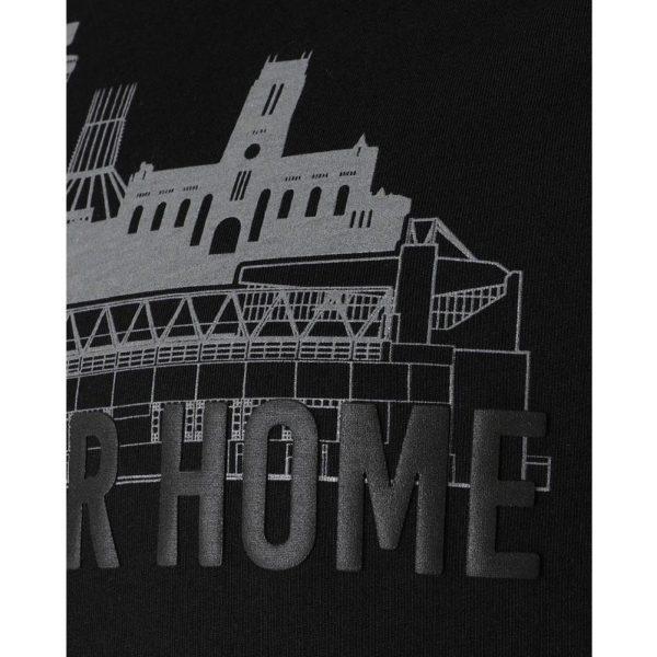 Liverpool FC Anfield Skyline T Shirt Mens Black S