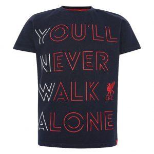 Liverpool FC YNWA T Shirt Junior Navy 7-8