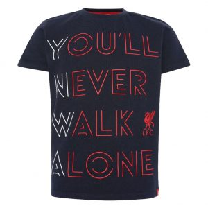 Liverpool FC YNWA T Shirt Junior Navy 9-10