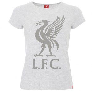 Liverpool FC Liverbird T Shirt Ladies Ice Marl 10