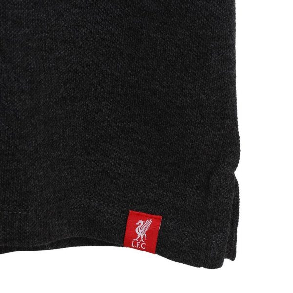 Liverpool FC Colour Block Polo Mens Charcoal S