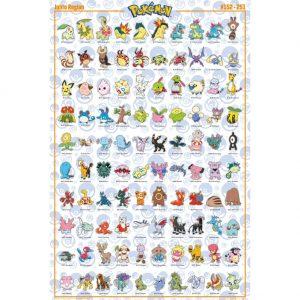 Pokemon Poster Johto 212