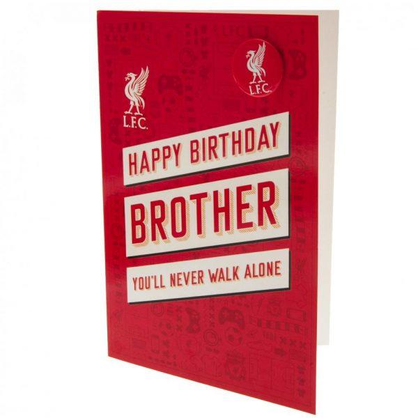 Liverpool FC Birthday Card Brother RD