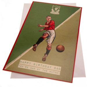 Liverpool FC Birthday Card Dad Retro