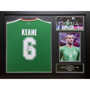 Ireland Keane Signed Shirt (Framed)